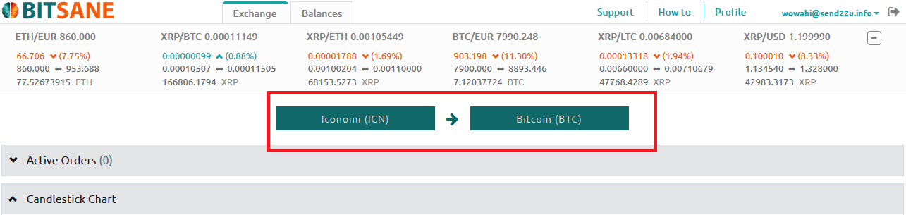Bitsane криптовалютные пары