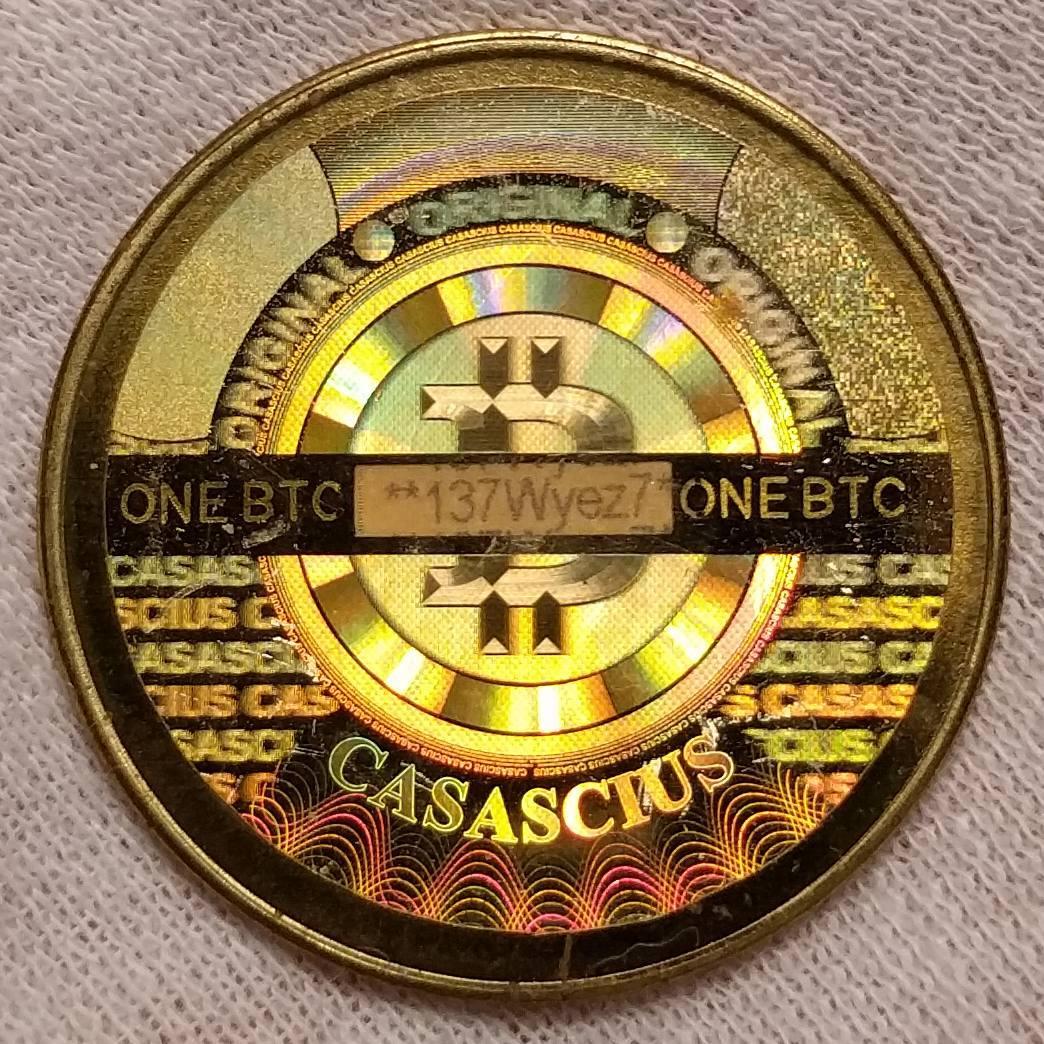 Монета Casascius