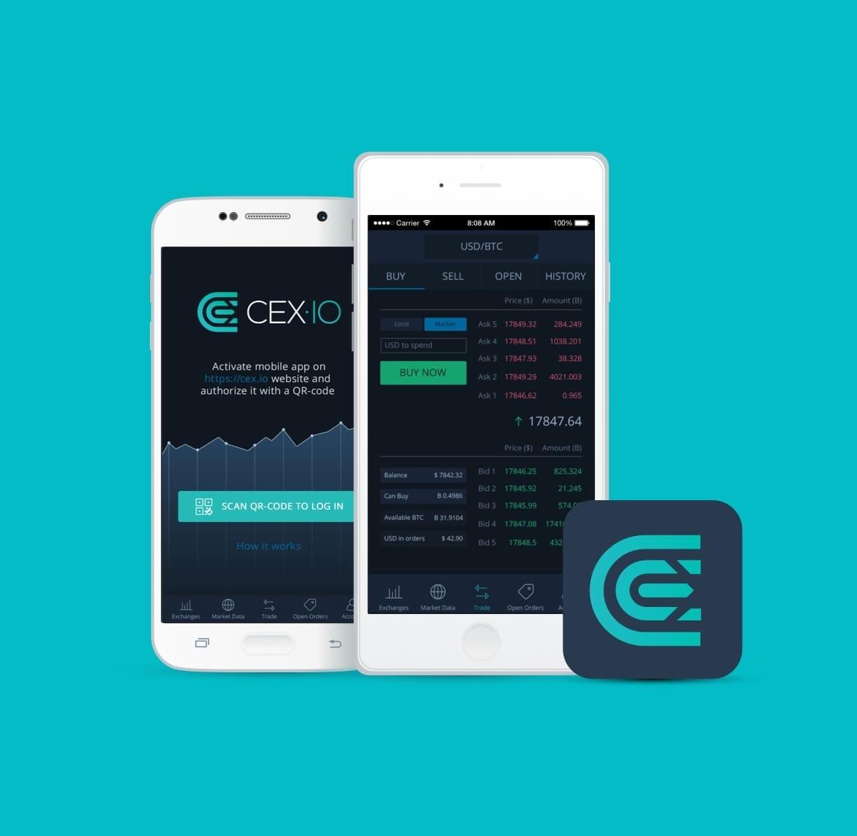 Мобильное приложение CEX