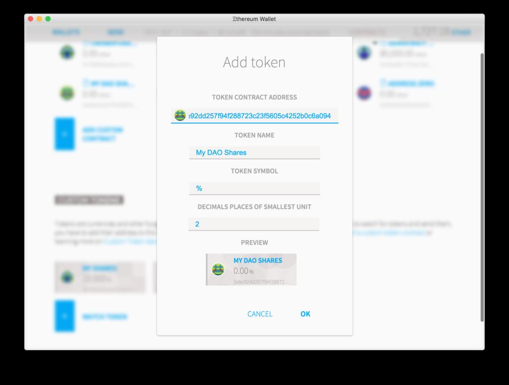 Отправка транзакции контракта в Ethereum Wallet