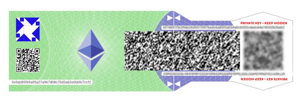 Бумажный кошелек для Ethereum