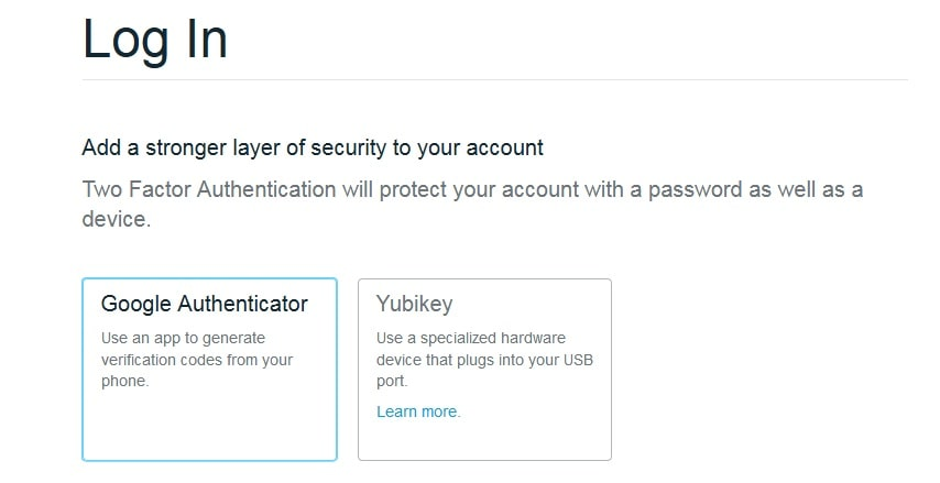Google Authenticator в BitGo