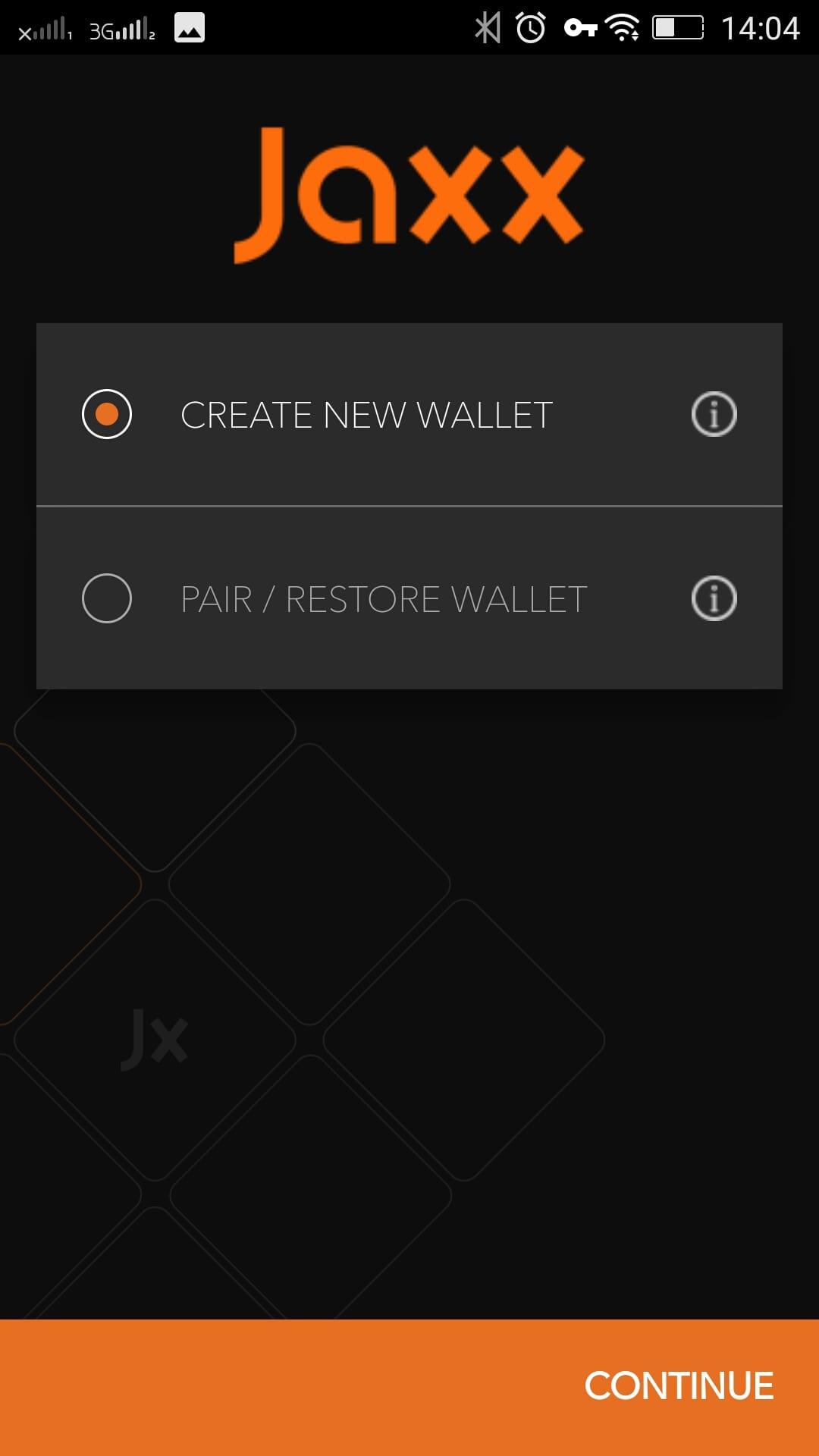 Мобильный кошелек Jaxx – установка