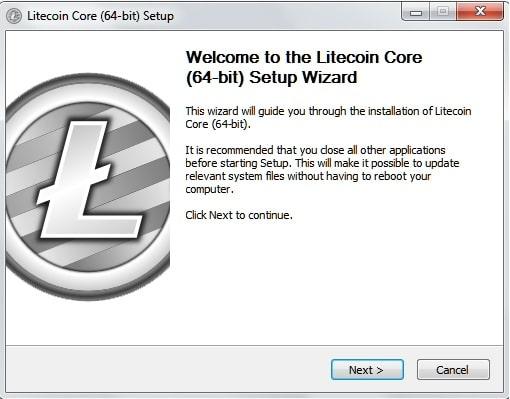 Кошелек Litecoin Core – установка