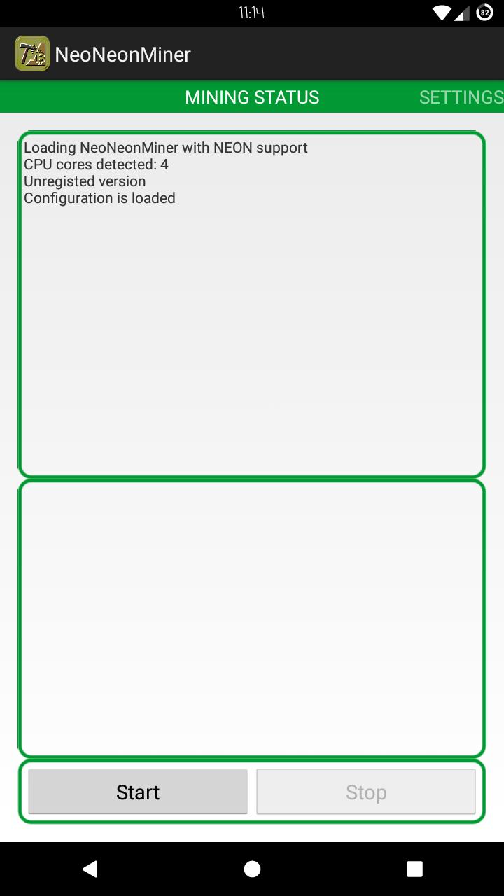 Приложение NeoNeonMiner