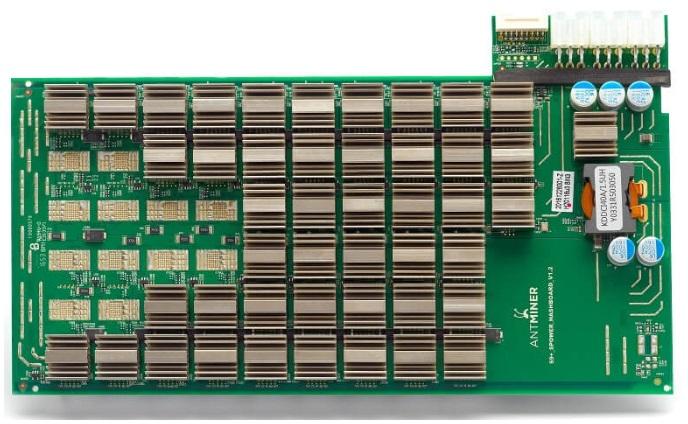 ASIC Antminer S9 внутреннее наполнение