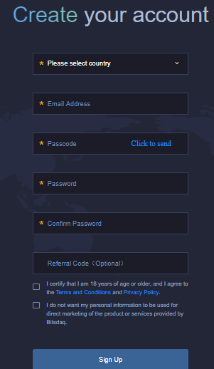Битсдак регистрация