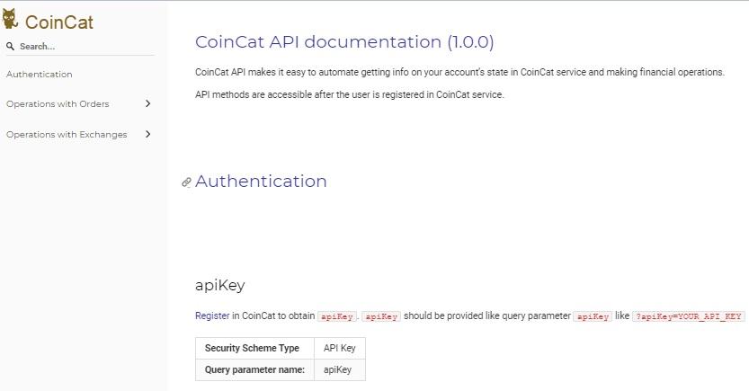 Coincat API